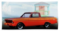 1965 Ford Falcon Ranchero Day At The Beach Beach Towel