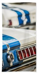 Beach Towel featuring the photograph 1965 Ford Shelby Mustang Gt 350 Taillight -1037c by Jill Reger