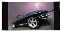 1966 Corvette Stingray With Lightning Beach Sheet