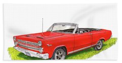 Beach Towel featuring the painting 1966 Mercury Cyclone Convertible G T by Jack Pumphrey