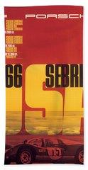 1966 Porsche 12 Hours Of Sebring Beach Towel