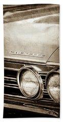 Beach Towel featuring the photograph 1967 Chevrolet Chevelle Ss Super Sport Emblem -0413s by Jill Reger