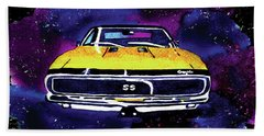 Beach Sheet featuring the painting 1967 Chevy Camaro Ss by Paula Ayers