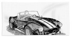 Beach Towel featuring the painting 1967 Cobra Sc by Jack Pumphrey