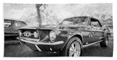 1967 Ford Mustang Coupe Bw C119 Beach Towel