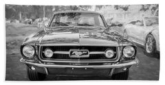 1967 Ford Mustang Coupe Bw C122 Beach Towel