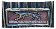 1968 Mercury Cougar Emblem Beach Towel