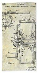 1969 Fly Reel Patent Beach Towel by Jon Neidert