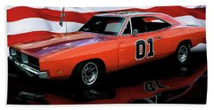 Beach Towel featuring the photograph 1969 General Lee by Peter Piatt