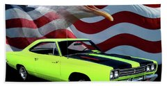 1969 Plymouth Road Runner Tribute Beach Towel