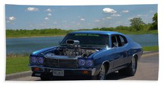 1970 Chevelle Pro Street Dragster Beach Towel