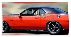 1970 Dodge Challenger Srt Beach Towel