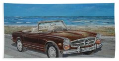 1970 Mercedes Benz 280 Sl Pagoda Beach Towel