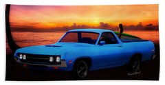 1970 Ranchero Dominican Beach Sunrise Beach Towel