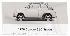 1970 Subaru 360 Beach Towel