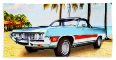 1971 Ford Ranchero At Three Palms - 5th Generation Of Ranchero Beach Towel