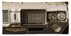1972 Olds 442 - Sepia Beach Towel