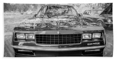 1987 Chevrolet Monte Carlo Ss Coupe Bw C122  Beach Sheet by Rich Franco