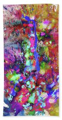 Beach Towel featuring the painting 1988.033014invertfadediff by Kris Haas