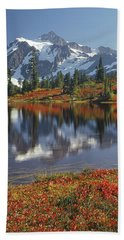 1m4208 Mt. Shuksan And Picture Lake Beach Towel