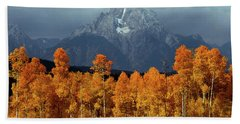 1m9235 Mt. Moran In Autumn Beach Sheet