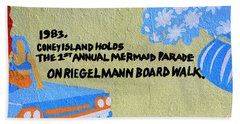 1st Annual Mermaid Parade Beach Towel