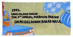 1st Annual Mermaid Parade Beach Sheet