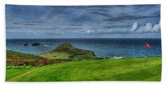 1st Green Cape Cornwall Golf Club Beach Towel