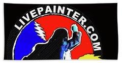 1st Live Painter Logo Beach Towel