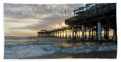 1st Sunrise 2017 Cocoa Beach Beach Towel