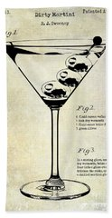 1897 Dirty Martini Patent Beach Towel