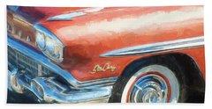 Beach Towel featuring the photograph 1958 Pontiac Star Chief  by Rich Franco