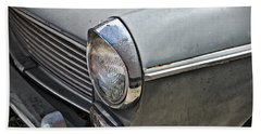 Beach Towel featuring the photograph 1964 Austin Westminster - Detail by Cendrine Marrouat