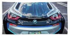 Beach Sheet featuring the photograph 2015 Bmw I8 Hybrid Sports Car by Rich Franco