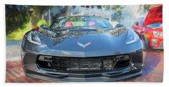 Beach Sheet featuring the photograph 2017 Chevrolet Corvette Gran Sport  by Rich Franco