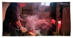 4th Generation Blacksmith, Miki City Japan Beach Towel
