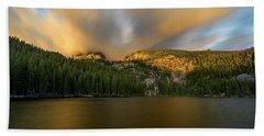 Beach Towel featuring the photograph 2 / 51  Bear Lake's Hallett Peak #2 by John Gilbert