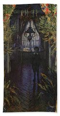 A Corner Of The Apartment Beach Towel by Claude Monet