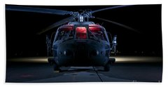 A Uh-60 Black Hawk Helicopter Lit Beach Towel