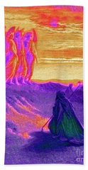 Abraham And The Three Angels Beach Towel