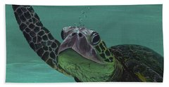 Beach Towel featuring the painting Aloha From Maui by Darice Machel McGuire