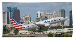 American Airlines Beach Towel