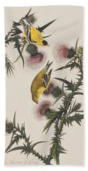 American Goldfinch Beach Towel by John James Audubon