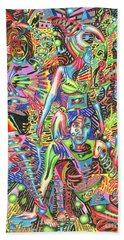 Animated Perspective Of Nocturnal Wandering Beach Towel