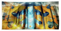 Beach Towel featuring the photograph Architectural Abstract by Wayne Sherriff