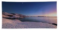 Arctic Sunset Beach Towel