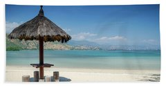 Areia Branca Tropical Beach View Near Dili In East Timor Beach Towel