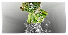 Asparagus Splash Beach Towel