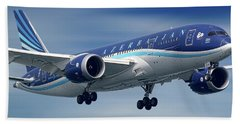 Azerbaijan Airlines Boeing 787 Dreamliner Beach Towel