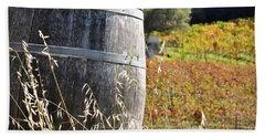Barrel In The Vineyard Beach Sheet